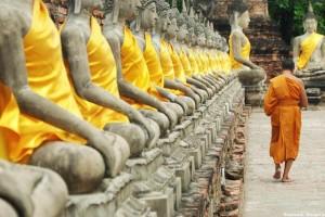 Magia ruin w sennym Ayutthaya