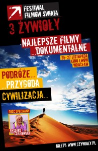 25-27.11 - Trzy Żywioły - Festiwal Filmów Świata