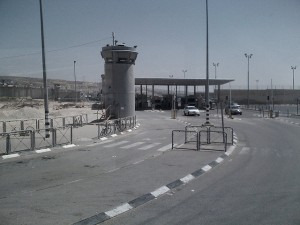 Granica - punkt kontrolny w Qualandii