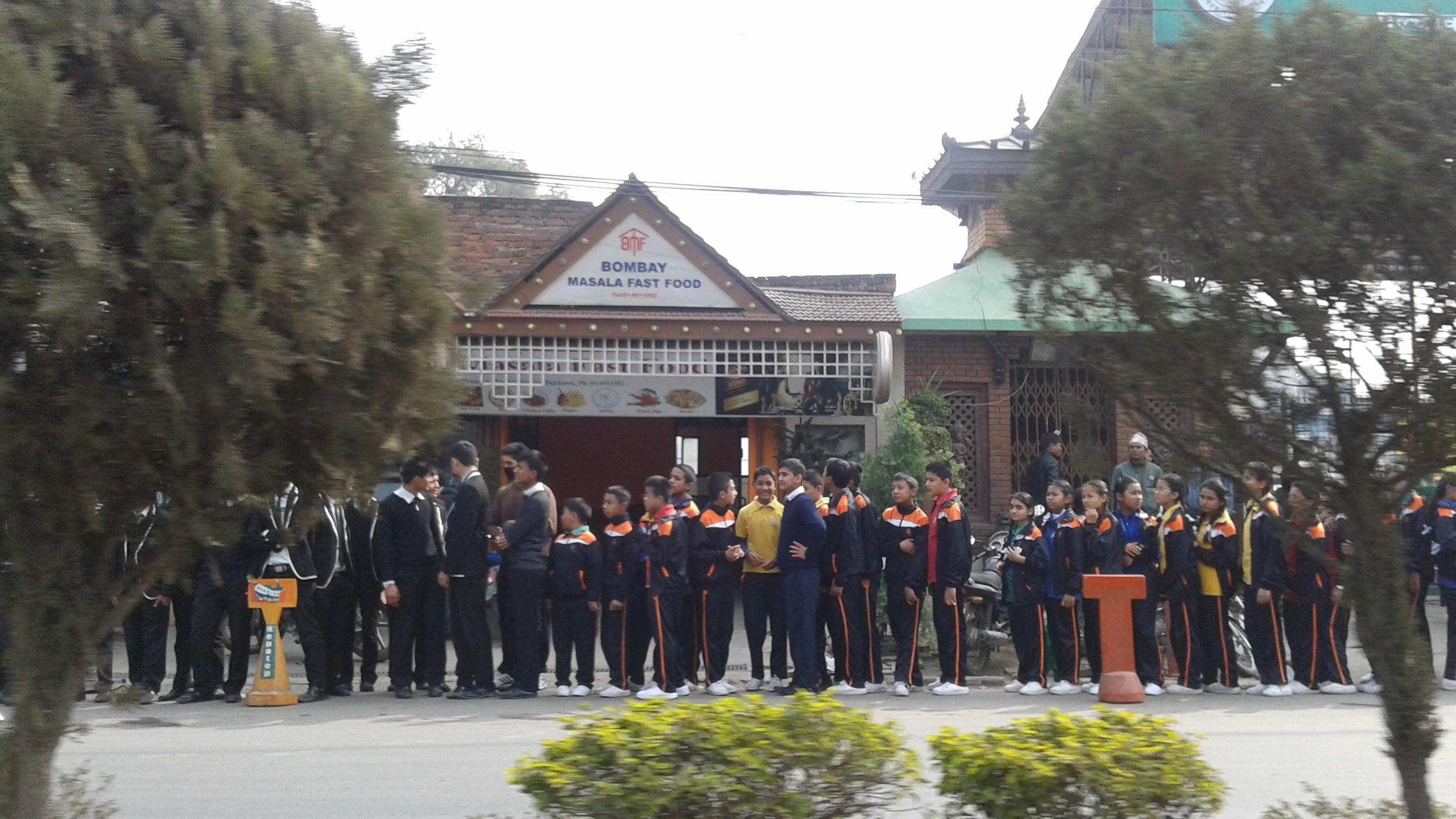 Protest studentów w Katmandu