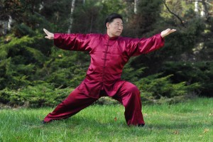 Trening Tai Chi na Polu Mokotowskim