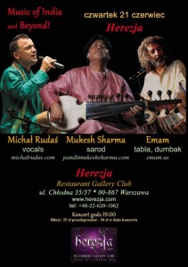 21.06 - koncert Music of India and Beyond w Warszawie